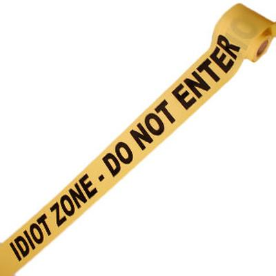 Click to get Idiot Zone Crime Scene Tape