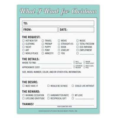 Click to get What I Want for Xmas Notepad