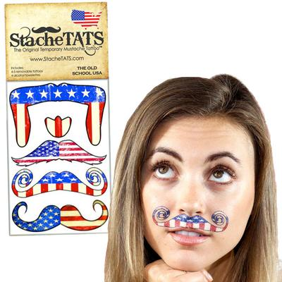 Click to get Stache Tats Old School Temporary Mustache Tattoos