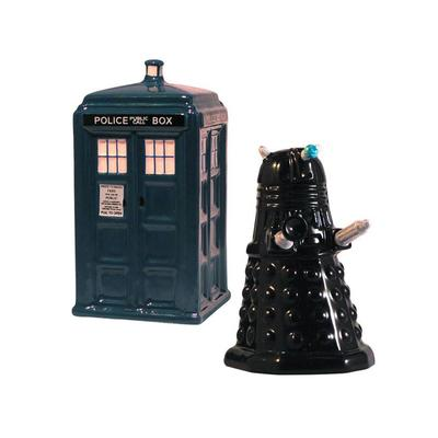 Click to get Tardis Vs Dalek Salt and Pepper Shaker