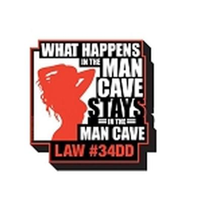 Click to get Man Cave  What Happens Magnet
