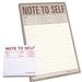 Large Note to Self Note Pad